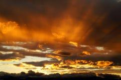 Een zonsondergang in Kamchatka. Royalty-vrije Stock Foto's