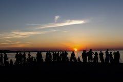 Een zonsondergangogenblik Royalty-vrije Stock Foto