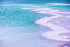 Een zout patroon van het Dode Overzees royalty-vrije stock afbeelding