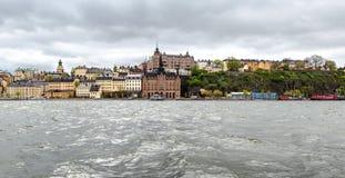 Een zuidendeel van Stockholm van het eiland Riddarholmen wordt gezien die Royalty-vrije Stock Foto's