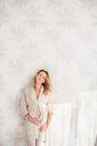 Een zwangere vrouw Royalty-vrije Stock Foto