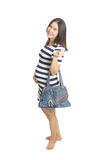 Een zwangere vrouw met handtas Royalty-vrije Stock Fotografie