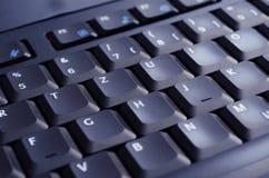 Zwart toetsenbord dat door het scherm wordt verlicht Royalty-vrije Stock Foto