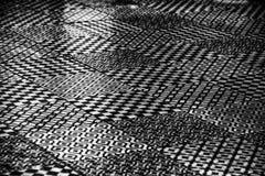 Een zwart-wit abstract ontwerppatroon van diverse soorten Royalty-vrije Stock Foto