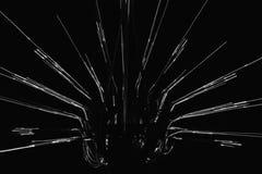 Een zwart-wit beeld van abstract geometrisch voorwerp Stock Foto
