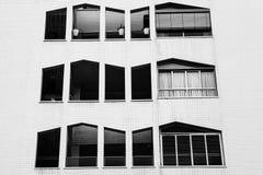 Een zwart-wit patroon van façade Royalty-vrije Stock Foto's