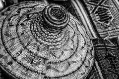 Een zwart-wit patroon van een geometrisch ontwerp Stock Foto