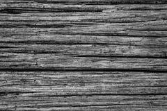 Een Zwart-witte Rustieke Achtergrond uit Doorstaan Hout royalty-vrije stock foto's