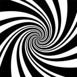 Een zwart-witte spiraalvormige optische illusieachtergrond Voorraad vect vector illustratie