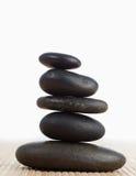 Een zwarte stenenstapel Stock Afbeelding