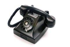Een zwarte telefoon stock foto's