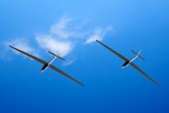 Een zweefvliegtuigenschot stock foto