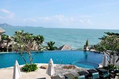 Een zwembad in Samui Thailand Stock Afbeelding