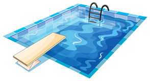Een zwemmende tank royalty-vrije illustratie