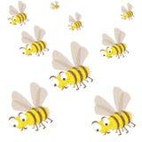 Een zwerm van bijen vastgestelde insecten royalty-vrije illustratie