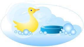 Eend 2 van de Tijd van het bad stock illustratie