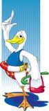 Eend aan water #2 royalty-vrije illustratie
