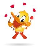 Eend in de illustratieEend van de Liefde in illustrati van de Liefde Royalty-vrije Stock Fotografie