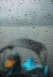 Eend in de Regen Royalty-vrije Stock Afbeelding