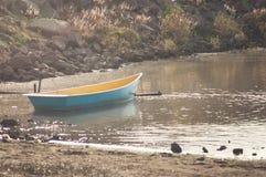 Eenden door de rivier Royalty-vrije Stock Fotografie