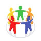 Eenheid in de groep, illustratie vector illustratie