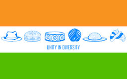 Eenheid in diversiteit van India royalty-vrije illustratie