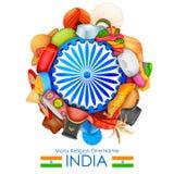 Eenheid in diversiteit van India Stock Foto's