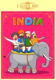Eenheid in diversiteit van India Stock Afbeelding