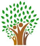 Eenheid in familie van het embleem van de mensenboom Stock Afbeeldingen