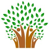 Eenheid in familie van het embleem van de mensenboom Royalty-vrije Stock Foto