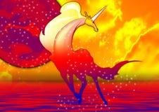 Eenhoorn in geel royalty-vrije illustratie