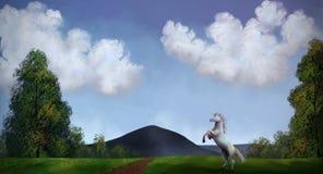 Eenhoorn - het Digitale Schilderen Royalty-vrije Stock Afbeelding