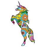 Eenhoorn kleurrijk voor kinderen stock illustratie