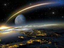 Eens in een blauwe maan Royalty-vrije Stock Foto
