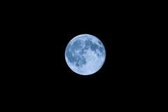 Eens in een blauwe maan Een close-upmening Stock Afbeeldingen