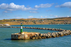Eentrance to the harbour Royalty Free Stock Images