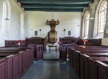 Eenum教会的内部  免版税库存图片