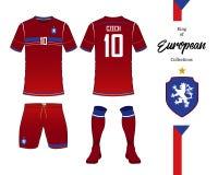 Eenvormig de voetbal nationaal team van de Tsjechische Republiek vector illustratie