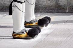 Eenvormig schoeisel van Evzone-Wachten Stock Afbeeldingen