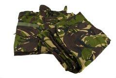 Eenvormige camouflage Royalty-vrije Stock Foto's
