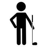 Eenvormige het golfspeler van het silhouetkarakter vector illustratie