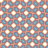 Eenvoudig Abstract Plaidnet Naadloos Mesh Web Fabric Pattern Illustration Royalty-vrije Illustratie