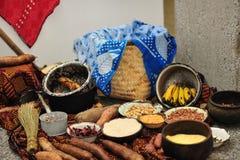 Eenvoudig Afrikaans voedsel Stock Foto's
