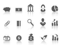 Eenvoudig bankpictogram Stock Foto