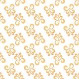 Eenvoudig Barok naadloos patroon stock afbeelding