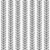 Eenvoudig blad naadloos patroon Stock Fotografie