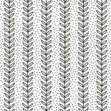 Eenvoudig blad naadloos patroon Stock Foto's