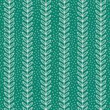 Eenvoudig blad naadloos patroon Hand Getrokken blauwe achtergrond Royalty-vrije Stock Foto