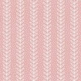 Eenvoudig blad naadloos patroon Hand getrokken roze achtergrond Leuk behang Royalty-vrije Stock Foto's
