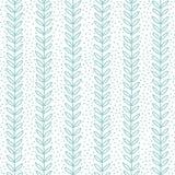 Eenvoudig blad naadloos patroon, vectorillustratie Stock Foto's